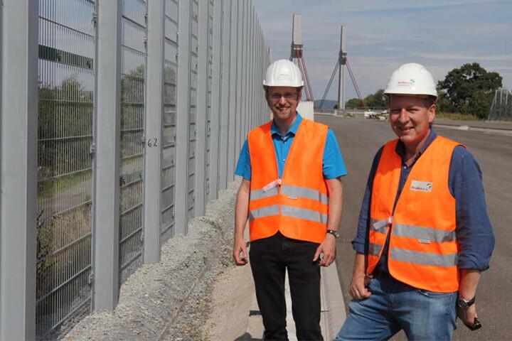 Sebastian Felgenhauer (links) und Sven Johanning sind optimistisch: Bis 2019 soll alles erledigt sein.