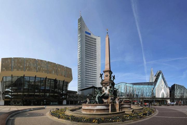 Der Augustusplatz ist bei Leipzigern und Touristen sehr beliebt.