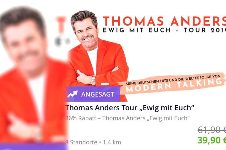 """Bei der App """"Groupon"""" werden Karten für Anders' Konzerte bis zu 36 Prozent günstiger angeboten."""