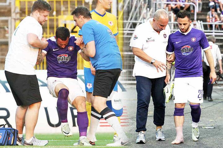 Calogero Rizzuto musste verletzt raus.