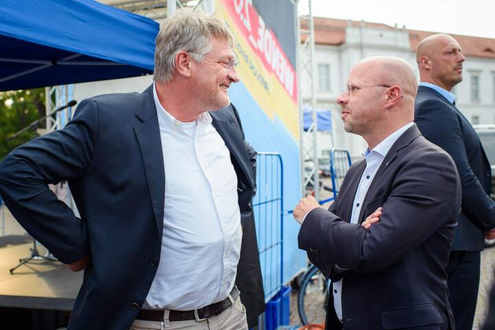 Enger Gegner der SPD: AfD-Spitzenkandidat Andreas Kalbitz hofft auf den Wahl-Sieg.