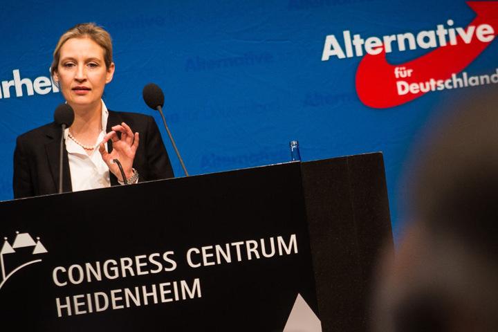 """Alice Weidel beklagte auf dem Landesparteitag eine """"Serie der Gewalt gegen junge Frauen"""" durch Flüchtlinge."""