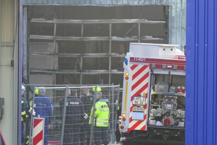 Dieses Rolltor der Firma Hörmann war in Brand geraten.