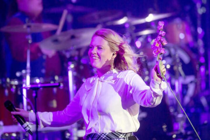 Patricia Kelly in ihrem Element. Zusammen mit den anderen Bandmitgliedern rockte sie die Bühne.