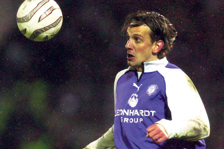 Wiesbaden-Coach Rüdiger Rehm bestritt zwischen 2003 und 2005 insgesamt 54 Spiele für Aue und schoss dabei drei Tore .