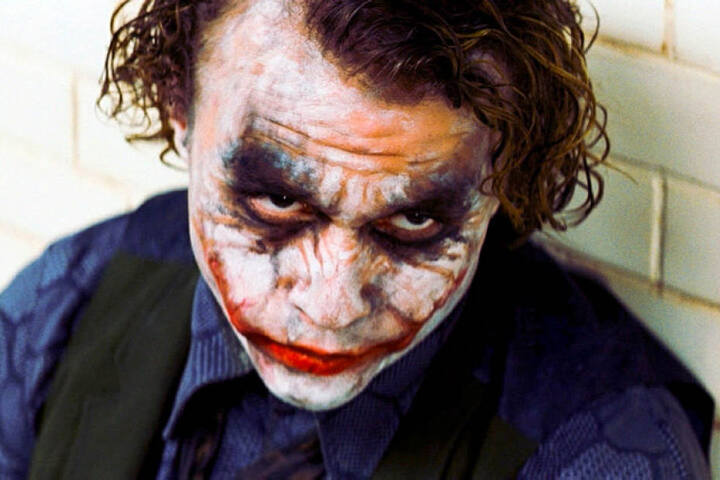 "Heath Ledger in seiner Rolle als ""Joker""."