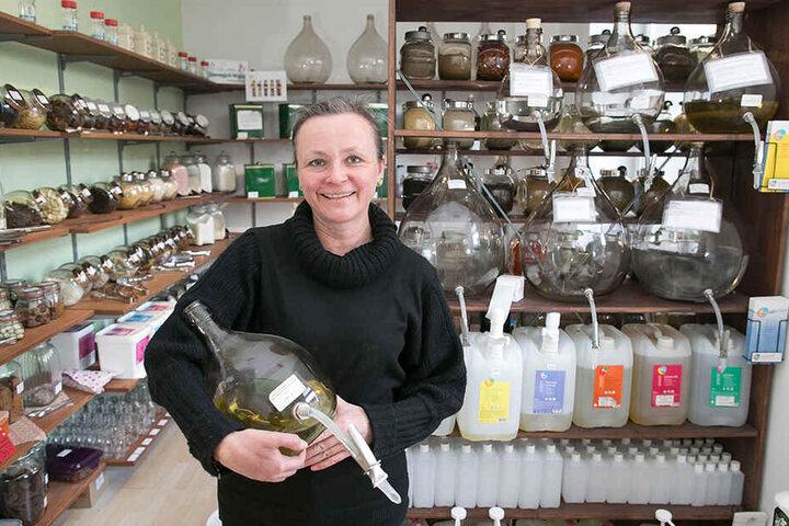 Berit Heller (49) war die Erste, die den Unverpackt-Trend mit ihrem Lose-Laden nach Dresden gebracht hat.