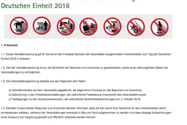 Diesen Verhaltenskodex findet man im Internet auf sachsen.de