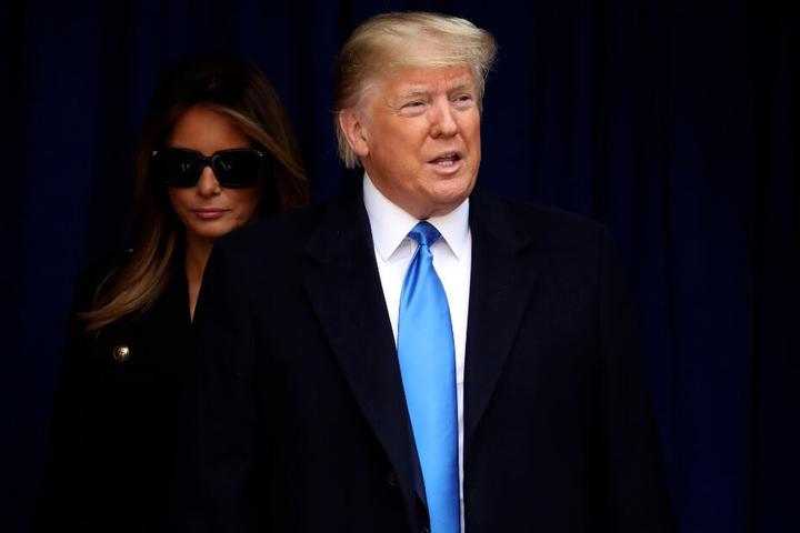 Donald Trump (73) mit seiner Frau Melania beim Veterans Day.