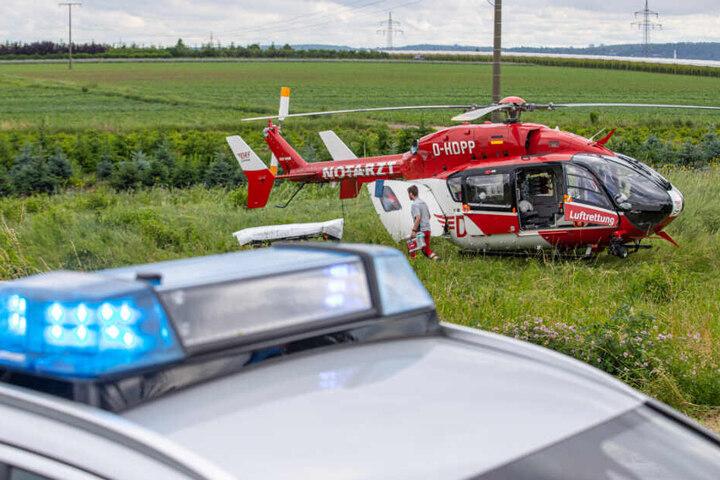 Der Fahrer kam per Hubschrauber ins Krankenhaus.