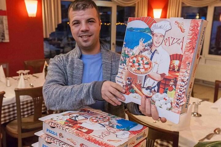 Restaurant-Betreiber Iseni Besar (27) will Obdachlosen in Frankenberg helfen.  Bei ihm gibt's ein kostenfreies Essen.