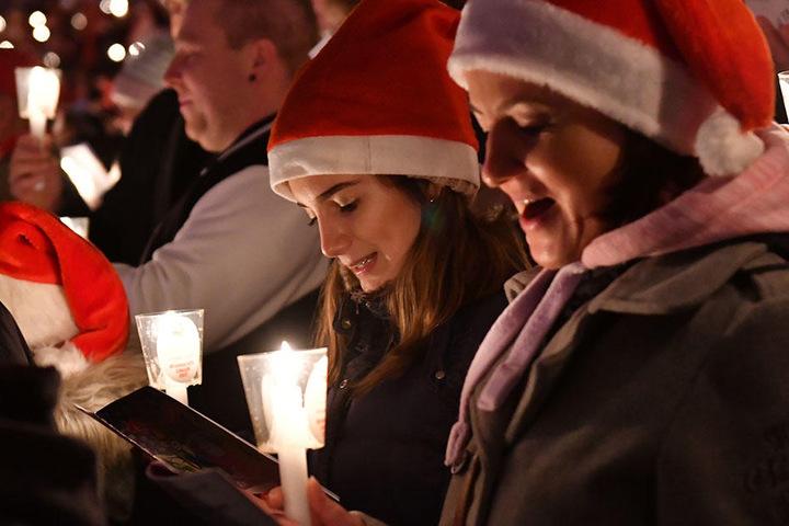 Auch in diesem Jahr war das Weihnachtssingen gut besucht.
