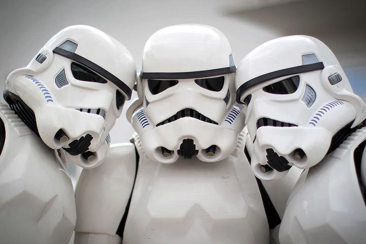 """Die """"Stormtrooper"""" repräsentierten die größte Streitmacht in der Geschichte der Galaxis."""