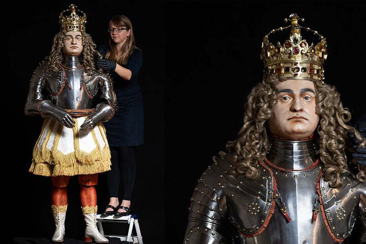 Diese Figurine von August dem Starken (1670-1733) wird ein Exponat in den Paraderäumen sein.