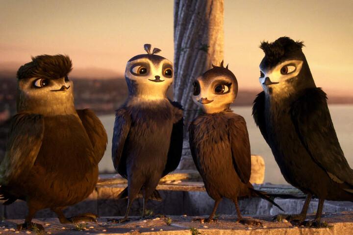 Manou (Zweiter von links) und seine Mauersegler-Freunde sind für heutige Verhältnisse schlecht animiert. Aus ihren Gesichtern Emotionen herauszulesen, ist eine Kunst.
