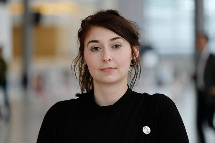 Populismus oder Gerechtigkeits-Power? Anna Gorskih (22, Linke) ist auf dem Weg in den Landtag.