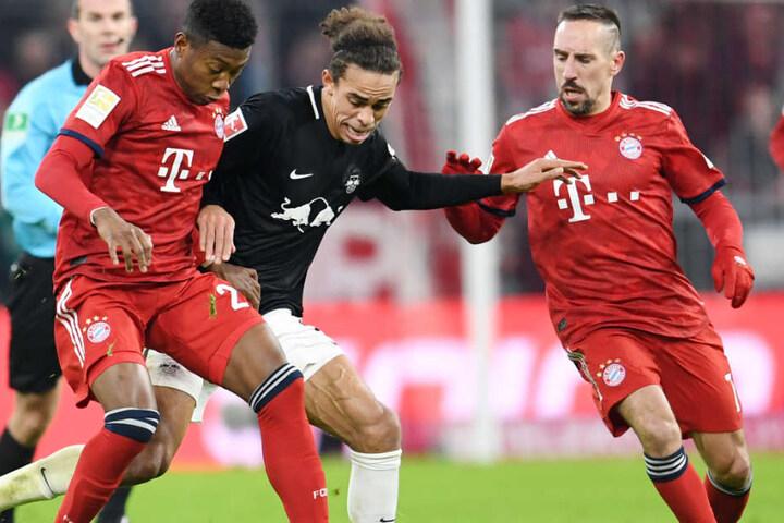 Franck Ribéry (r.) erzielte in der Schlussphase der Partie den entscheidenden Treffer des Tages.