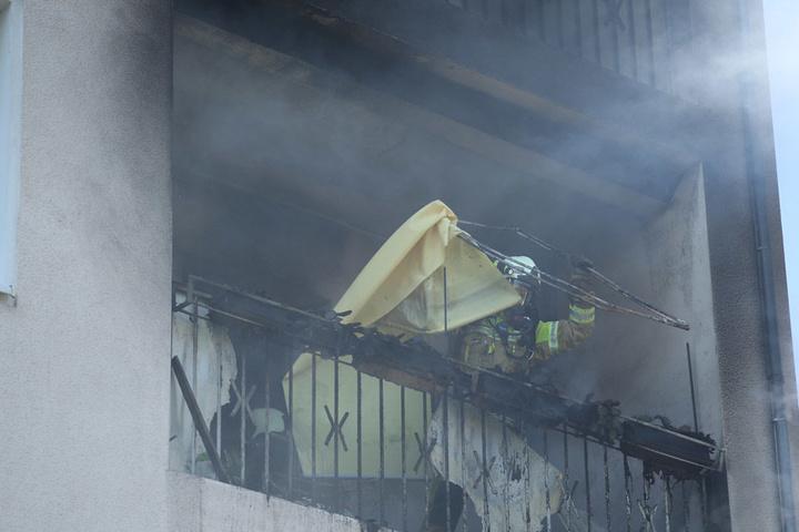 Der Brand war schnell gelöscht. Hauptsächlich Unrat war den Flammen zum Opfer gefallen.