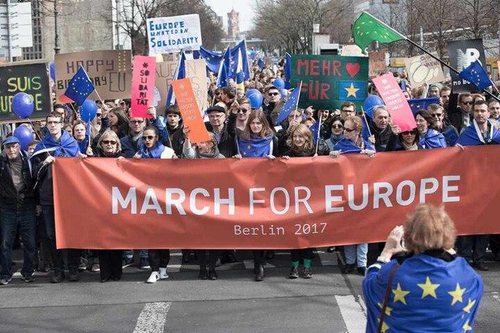 Etwa 4000 Menschen haben an der Demonstration teilgenommen.