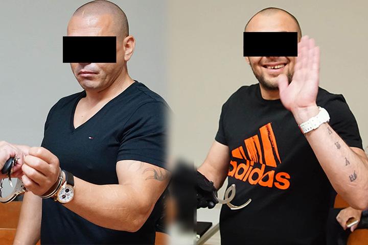 Insgesamt sind 10 Verhandlungstage am Landgericht Erfurt angesetzt. Im Bild: Nicolae P. (links) und Ionut C..
