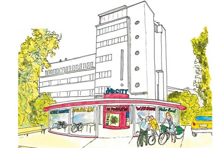 Der Entwurf für ein Fahrradparkhaus am Getreidemarkt aus dem Jahr 2012, gebaut wurde es bislang aber nicht.