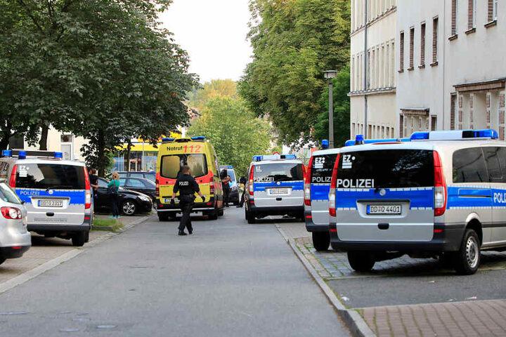 Großeinsatz für die Polizei auf dem Sonnenberg.