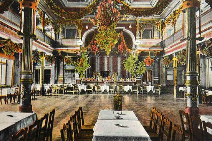 So prachtvoll sah es einst im Hotel Demnitz aus.
