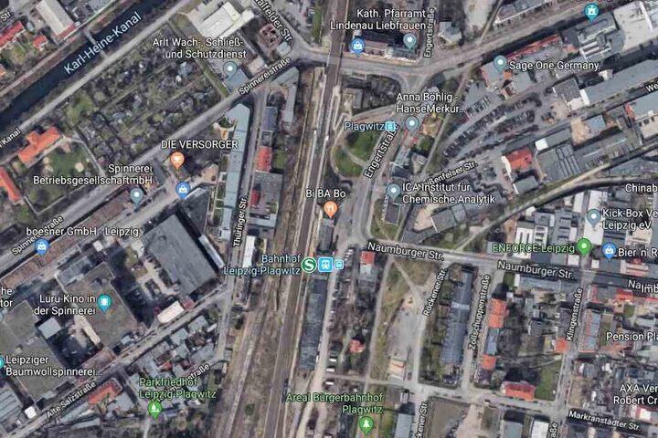 Der Vorfall soll sich im Bereich des Plagwitzer Bahnhofs ereignet haben.