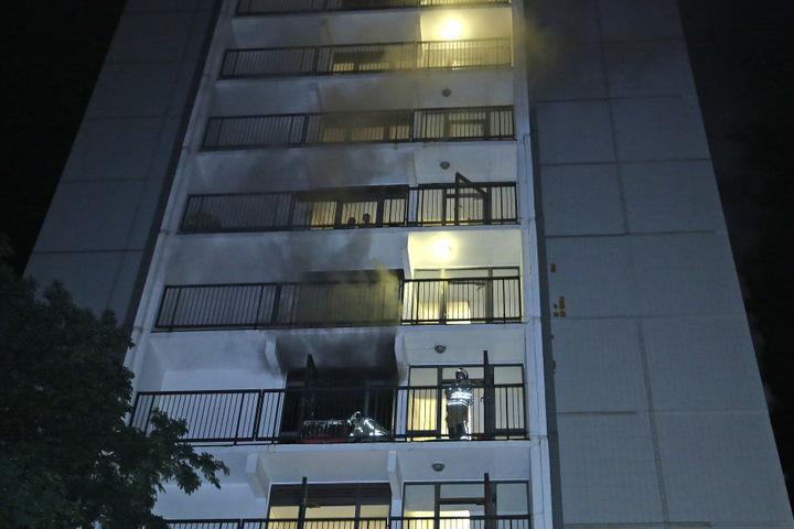 Die Feuerwehr rückte nach Prohlis aus.