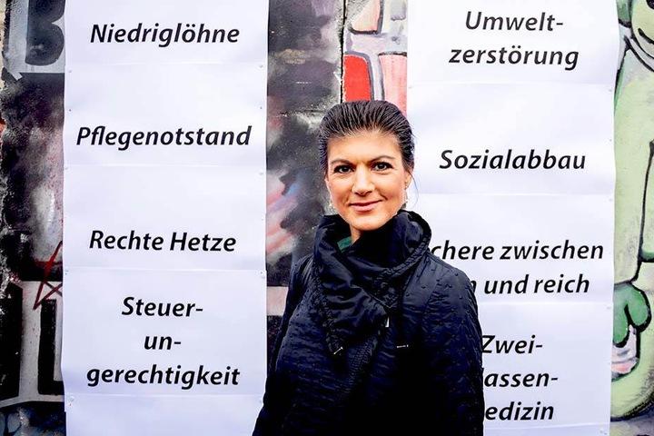 Sahra Wagenknecht (49) am Pariser Platz in Berlin.