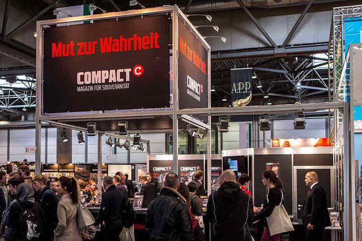rechte Verlage wie COMPACT dürfen auch in diesem Jahr auf der Leipziger Buchmesse ausstellen.