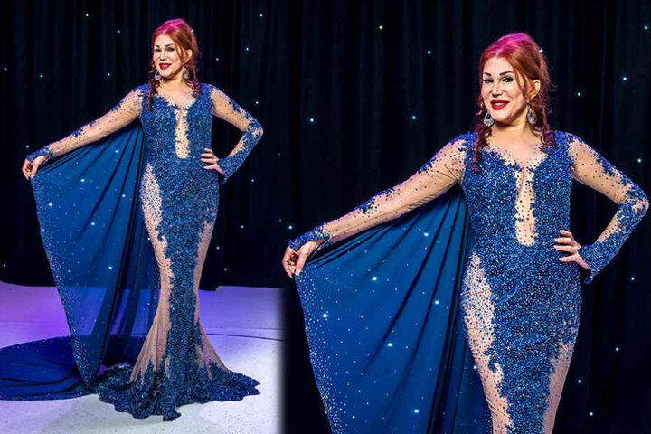 Ein Kleid wie für eine Oscar-Verleihung. Zora Schwarz zeigt sich stolz in  ihrer Traumrobe für den SemperOpernball.