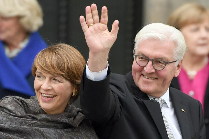 Bundespräsident Frank Walter-Steinmeier und Ehefrau Elke Büdenbender.