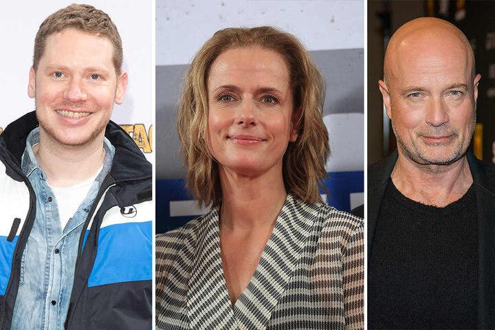 Auch sie werden in der neuen Amazon-Serie mitspielen: Marco Kreuzpaintner (l-r), Claudia Michelsen und Christian Berkel.
