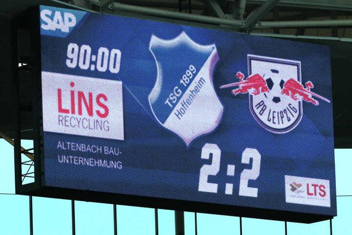 2:2 hieß es nach 90 Minuten beim Hinspiel in Hoffenheim.