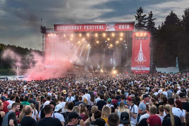 """Insgesamt sieben Mal fand das """"Kosmonaut-Festival"""" am Stausee Oberrabenstein statt."""