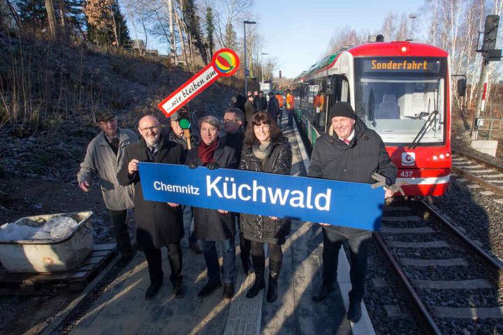 Zehn Jahre Kampf, 1,9 Millionen Euro Kosten: Der Küchwald hat endlich seinen Bahnanschluss.