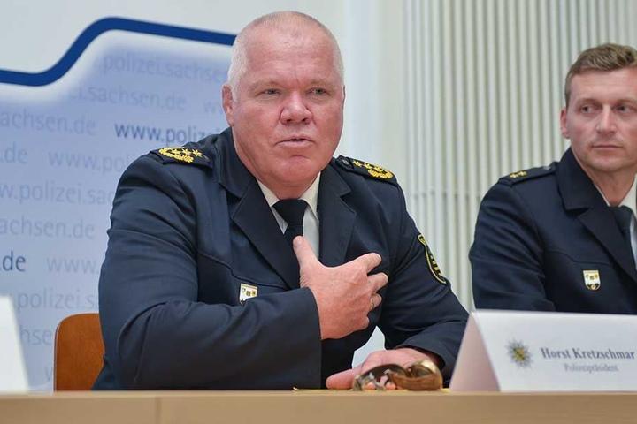 Polizeipräsident Horst Kretzschmar (58) setzt darauf, das subjektive Sicherheitsgefühl zu stärken.