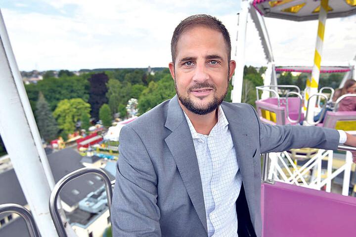 Jesko Vogel (43, Freie Wähler), gewann vor zwei Jahren überraschend die OB-Wahl in Limbach-Oberfrohna.