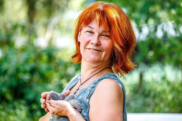 Cornelia Schicke (55) leitet die Igelhilfe Radebeul.