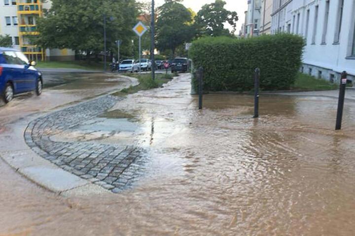 Betroffen war die Kreuzung Weststraße/Kochstraße in Chemnitz.