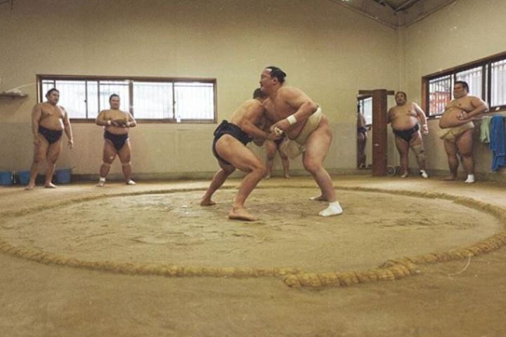 Der Kampf im Sumo-Ring dauerte nur wenige Minuten.