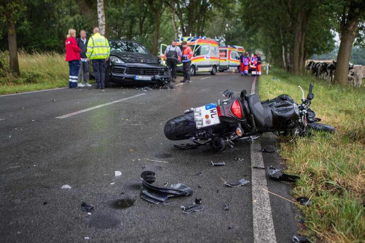 Der Porschefahrer konnte nicht mehr rechtzeitig ausweichen.