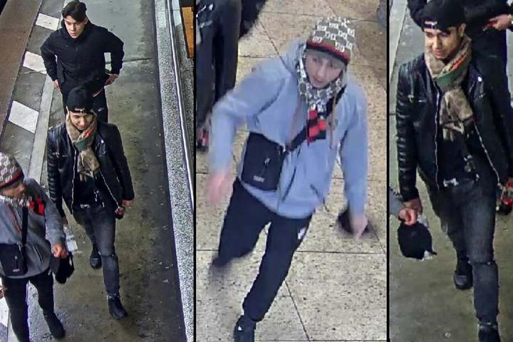 Wer kann Hinweise zu den drei gesuchten Männern aus der S-Bahn geben?