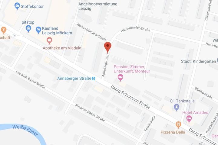 Der Einsatzort befand sich in der Annaberger Straße im Leipziger Nordwesten.