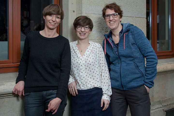 Die Festivalleitung: Katrin  Küchler (33), Alexandra Schmidt (34) und Karolin Kramheller (40, v.l.).
