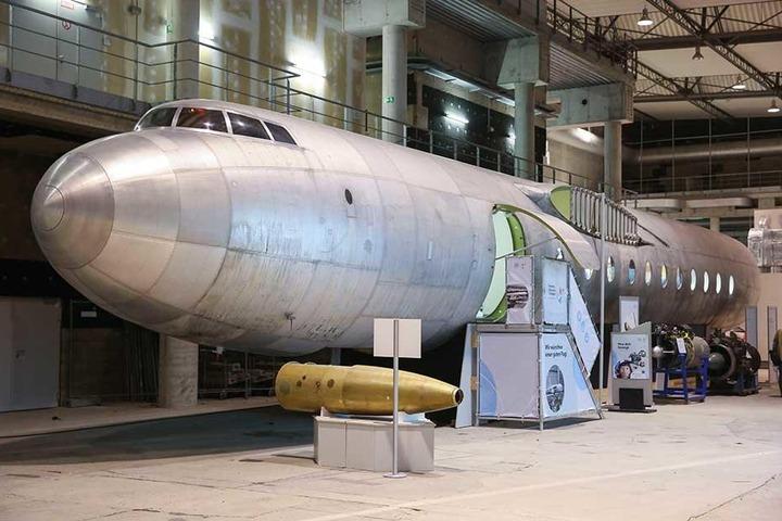 Der Rumpf der verbliebenen 152. Die heutigen Elbe-Flugzeugwerke verstehen sich als Erben dieses Projekts