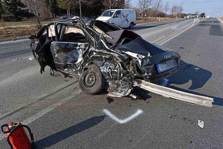 Totalschaden beim Audi.