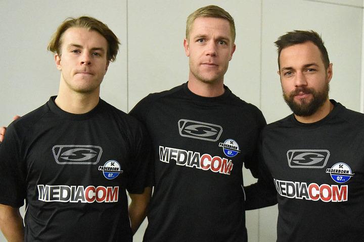 Roope Riski (li.), Michael Wiemann (mi.) und Sebastian Heidinger (re.) überzeugten schon im ersten Training.