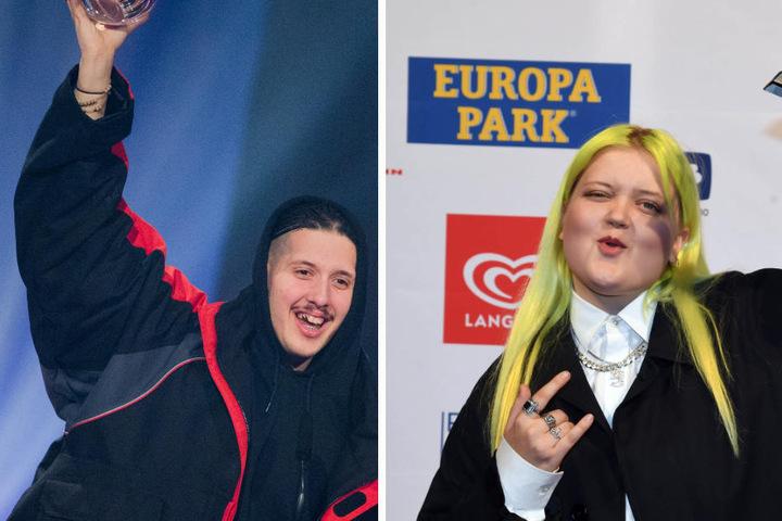 Der deutsche Rapper RIN (l.) und Sängerin ALMA aus Finnland (r.) sind beim Melt auch am Start.